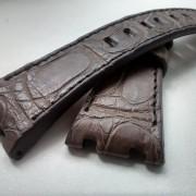 Audemars Piguet Brown crocodile black stitching