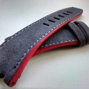 AP Schumacher grey alcantara red rubberized edges