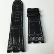 AP black alligator black stitching strap wisentex