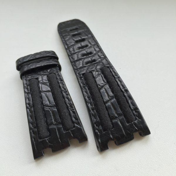 Black crocodile GP APROO strap