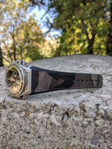Camouflage saffiano strap for Linde Werdelin