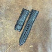 Rubberized textured calf strap for Panerai