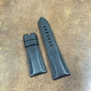 Rubberized calf strap for Panerai Pam