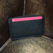 Black saffiano leather cardholder