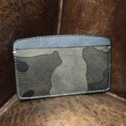 Camouflage saffiano leather card-holder wallet