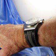 Black calfskin Linde Werdelin strap wristshot