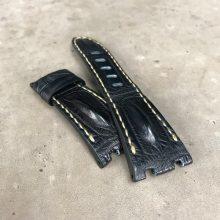 Black hornback strap for Audemars Piguet