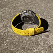 Yellow ostrich back strap for Linde Werdelin