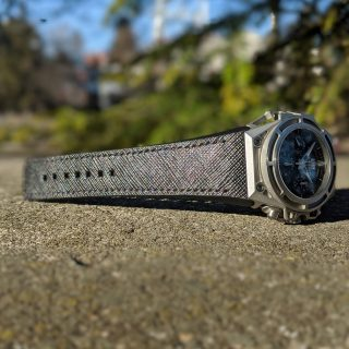 Black saffiano strap for Linde Werdelin