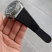 Linde Werdelin black nylon velcro strap
